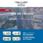 VIGILAN AUTORIDADES CUMPLIMIENTO DE DOBLE HOY NO CIRCULA
